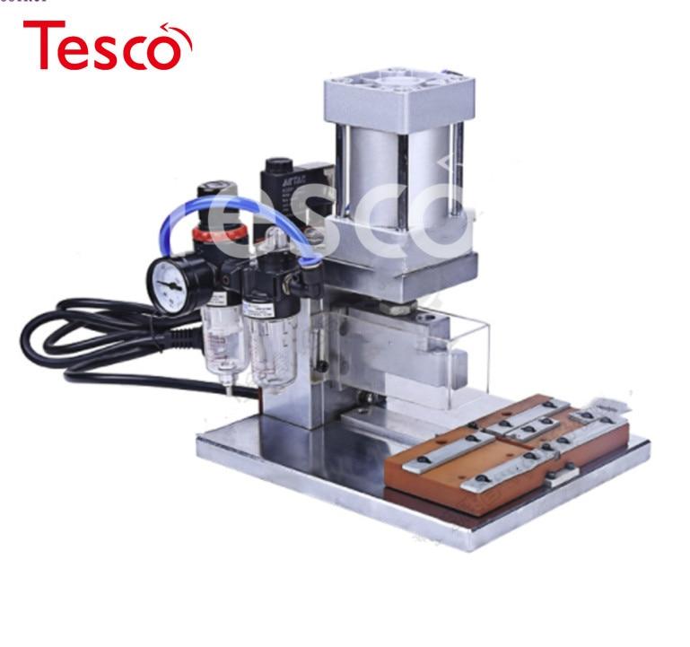 Máquina de prensado automática neumática de HS-IDC, máquina de prensado de Cable y línea, remachadora de cabezal IDC, máquina de remar de 220V