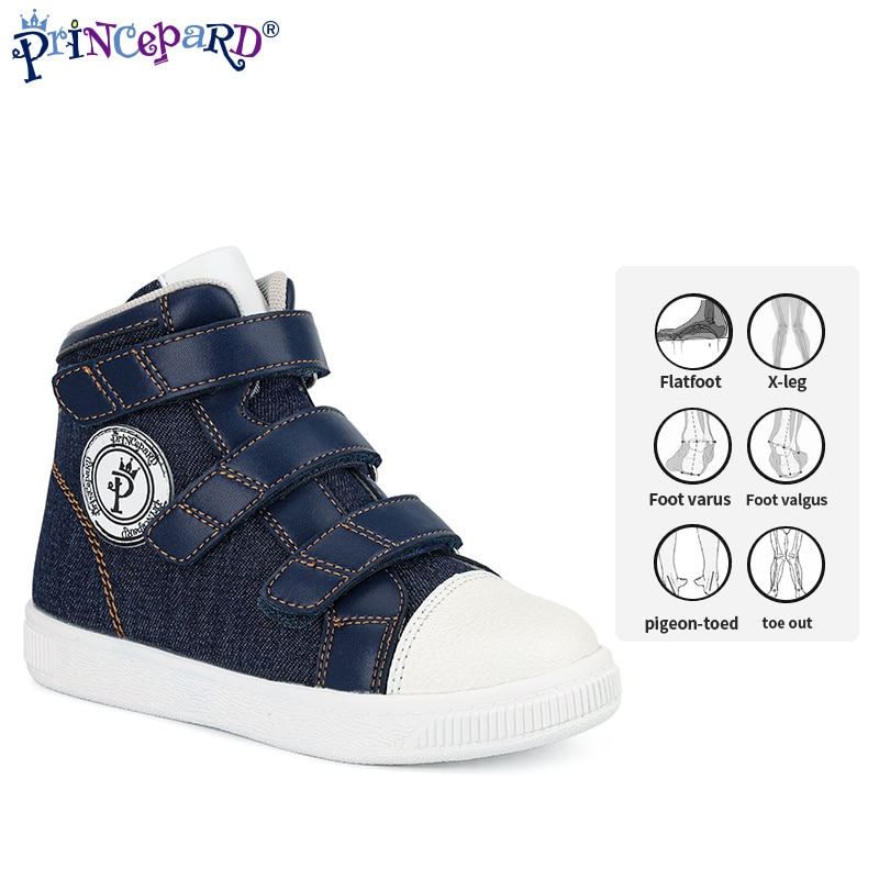 Princepard New Autumn Children Orthopedic Shoes Blue Kids Sport Sneakers With Corrective Insole Collocate with AFOs Arch Support enlarge
