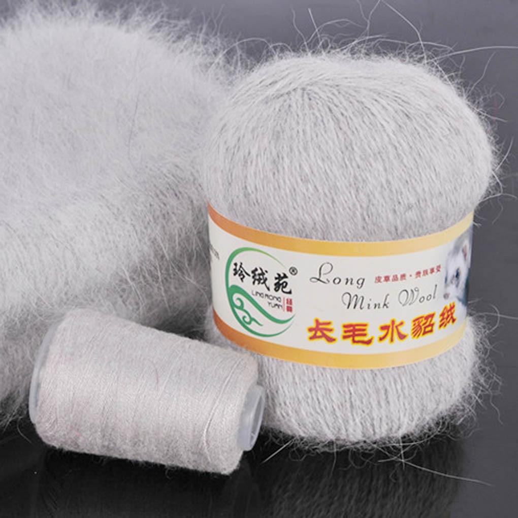50+20g/set Long Plush Mink Cashmere Yarn Anti-pilling Fine Hand-Knitting Thread For Cardigan Scarf Cashmere crochet yarn