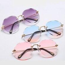 New Frameless Sunglasses Women Oversized Sunglasses Men Women Classic Brand Designer Rays Sun Glasse