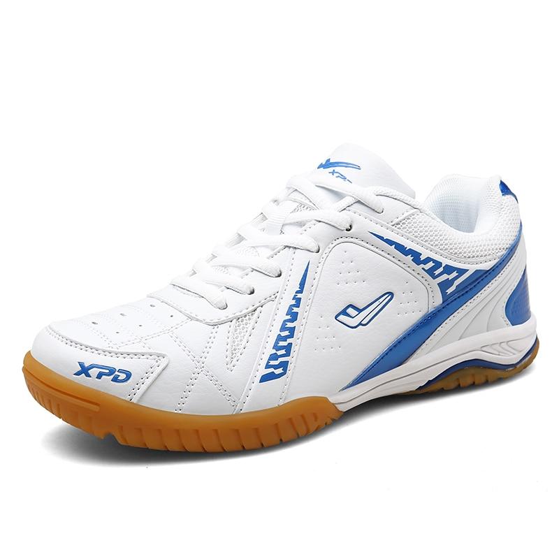 Tênis de mesa de treinamento profissional de alta qualidade sapatos de tênis de mesa de pouco peso não-deslizamento tênis de desgaste de atletismo sapatos de badminton