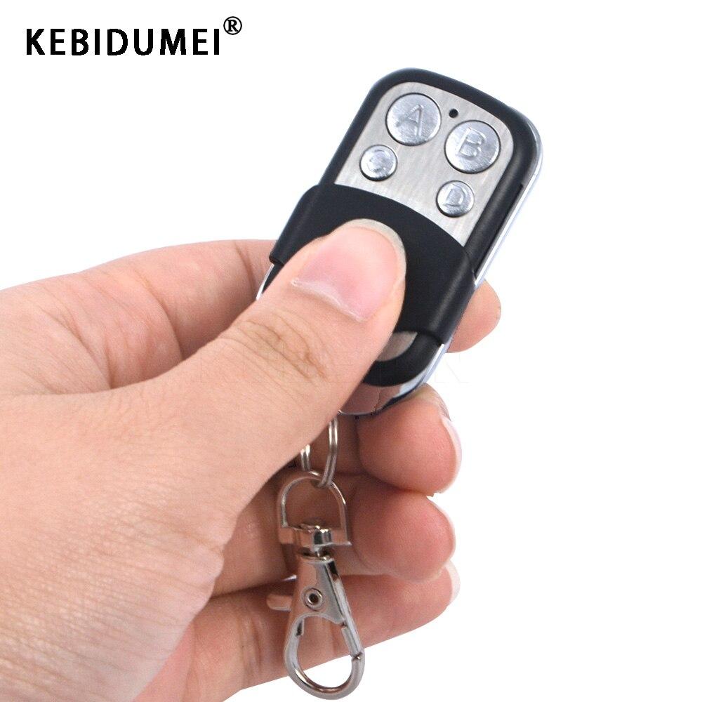 Kebidumei, 433Mhz, 4 botones, Control remoto inalámbrico inteligente, puerta eléctrica de garaje, llavero automático, 4 canales, coche, sin llave