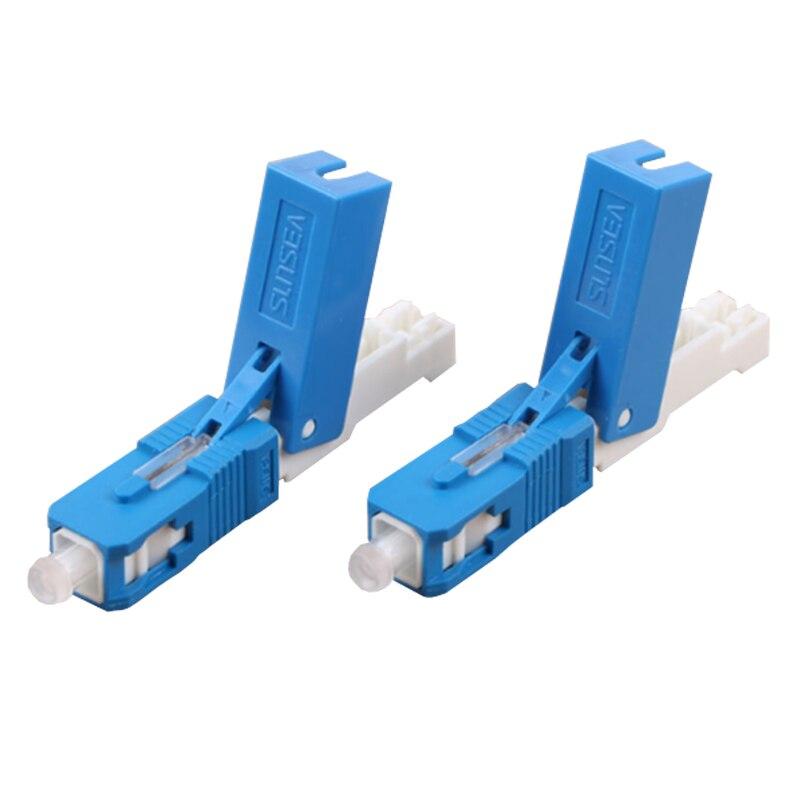 مصنع توريد 100 قطعة/صندوق Sunsea SS03 FTTH SC UPC الألياف البصرية موصل سريع SC PC FTTH الألياف البصرية موصل سريع