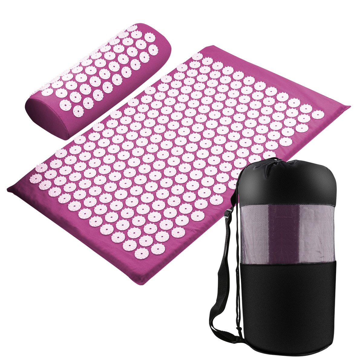 Acupressure Mat Massage Relieve Stress Back Body Pain Spike Cushion yoga  Acupuncture mat