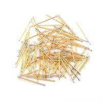 hot selling 100pcsbag of p100 series brass spring test probe with nickel plated needle diameter electronic spring test probe