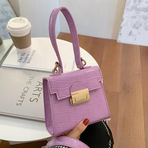 Crocodile pattern Small Tote bag 2020 New High-quality PU Leather Women's Designer Handbag Chain Shoulder Messenger Bag Purses