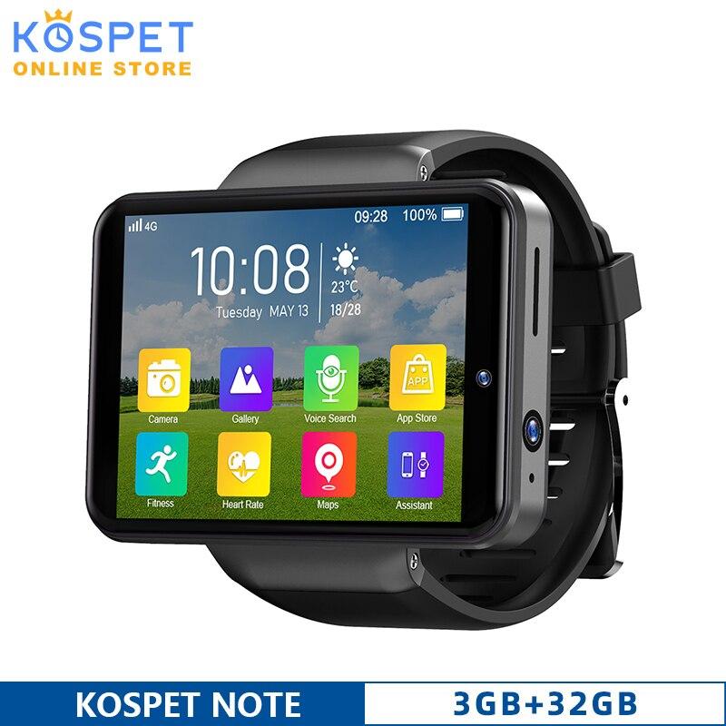 KOSPET NOTE GPS نوت 4G أندرويد هاتف ساعة ذكية للرجال 3GB 32GB مقاوم للماء كاميرا مزدوجة واي فاي بلوتوث ساعة ذكية 2020 ل شاومي IOS