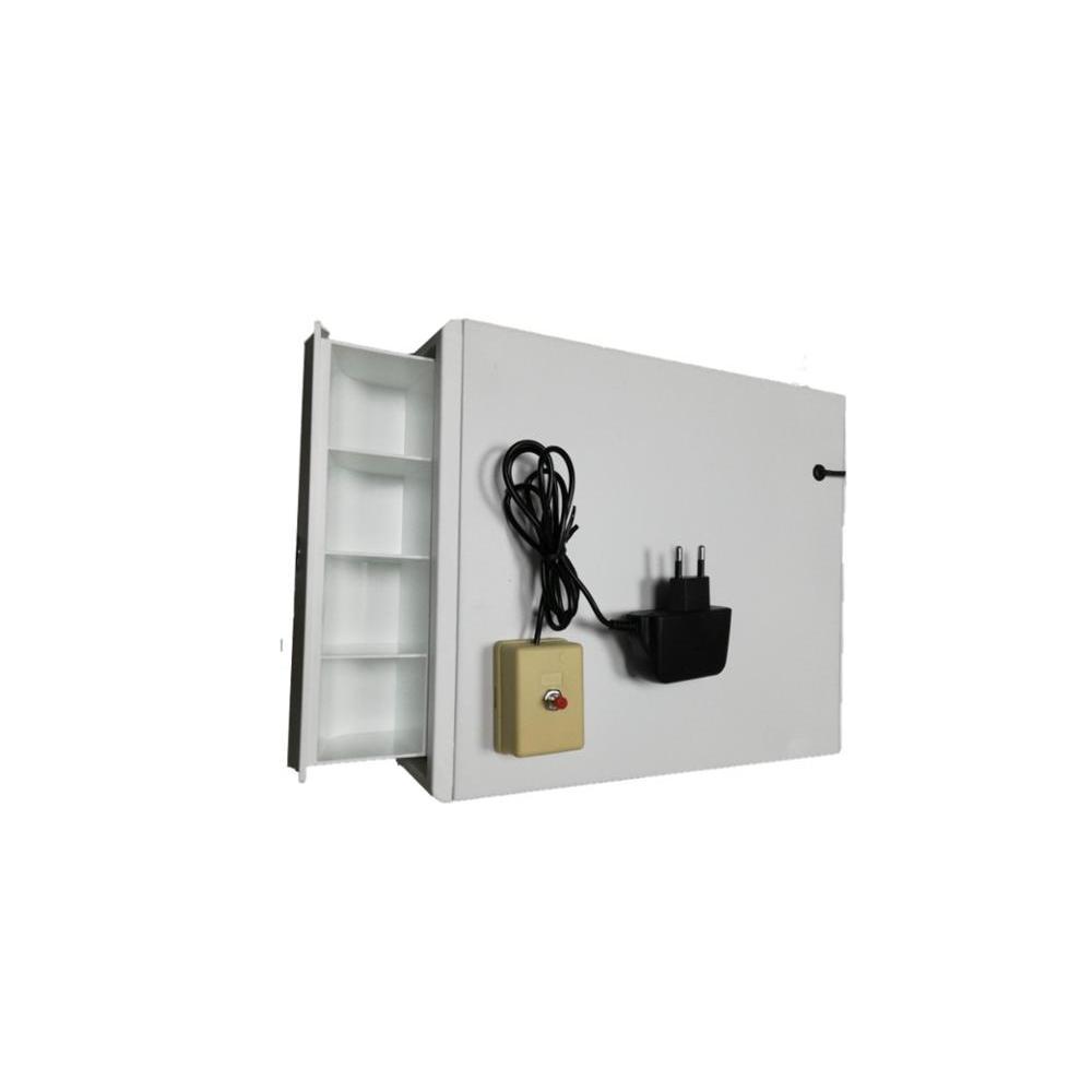 Caixa de caixa de caixa de caixa de caixa de caixa de cascador de gaveta de dinheiro com 4 moedas de cofre com botão de abertura