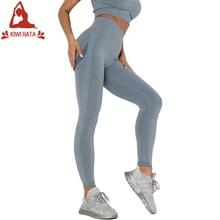 Kiwi Rata Naadloze Sport Fitness Leggings Gym Running Workout Yoga Broek Vrouwen Hoge Taille Strakke Tummy Controle Broek Hip Lift