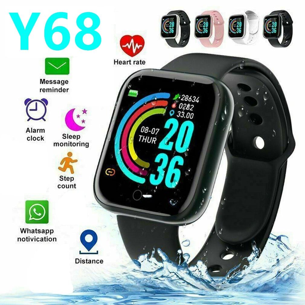 Смарт-браслет Y68 с Bluetooth, цветной экран, пульсометр, фитнес-трекер