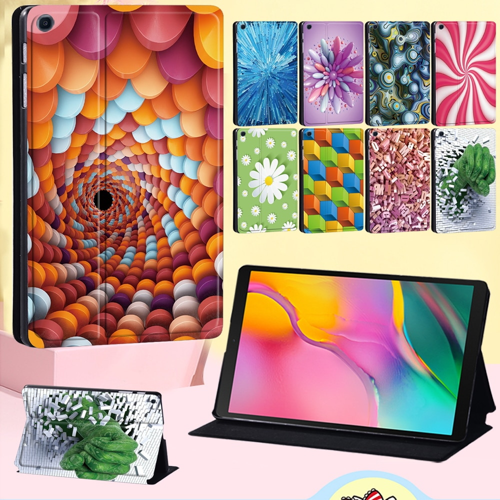 Tablet Case for Samsung Galaxy Tab A 10.5 T590 T595/Tab A 9.7 T550 P550 T555 T551 - Cool 3D Series Dust-proof Leather Cover Case