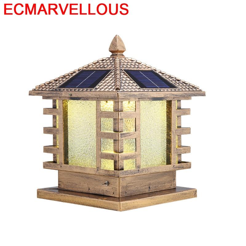ESTATUILLA Europea Foco Exterior LED Solar luminaria Exterior Terraza Y jardín decoración paisaje de Exterior iluminación