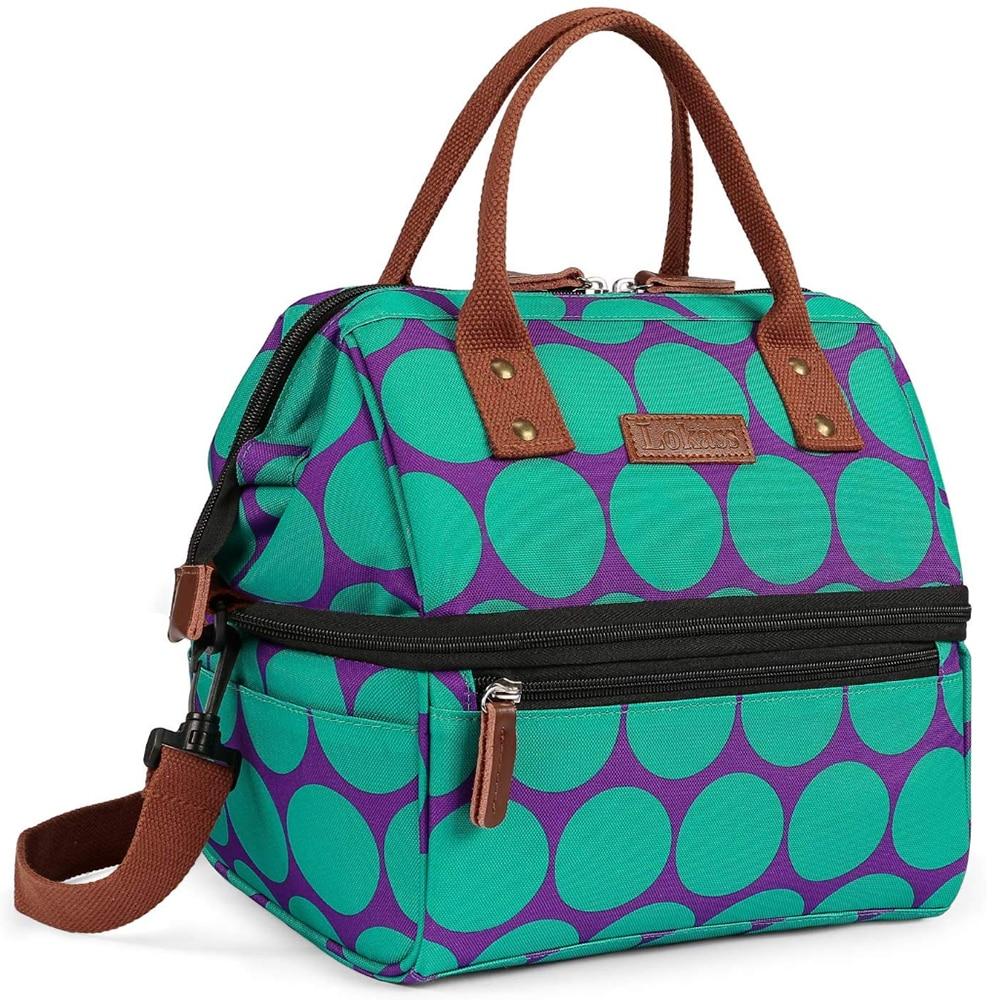 Extra grande bolsas portátil mujeres aislado almuerzo bolsa de caja térmica multifunción comida bolsa de Picnic aperitivo doble cubierta