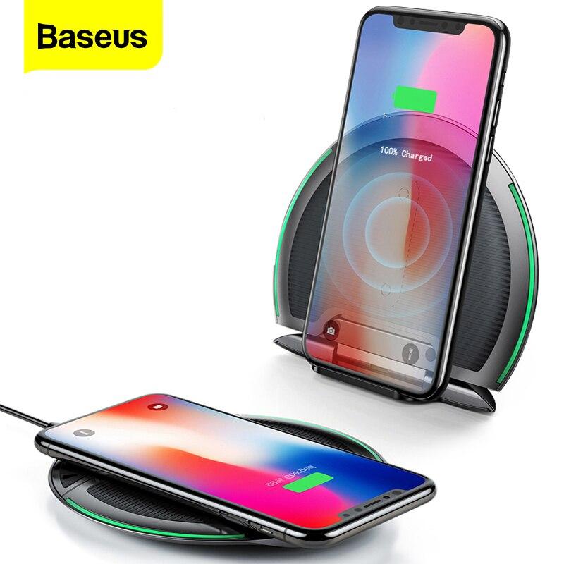 Baseus складное Беспроводное зарядное устройство Qi для iPhone Xs Max X 10W 3 катушки быстрая Беспроводная зарядка Pad для Samsung S9 S8 Xiaomi Mix 3 2s