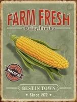 retro tin paintings new tin sign farm fresh corn retro vintage aluminum metal sign