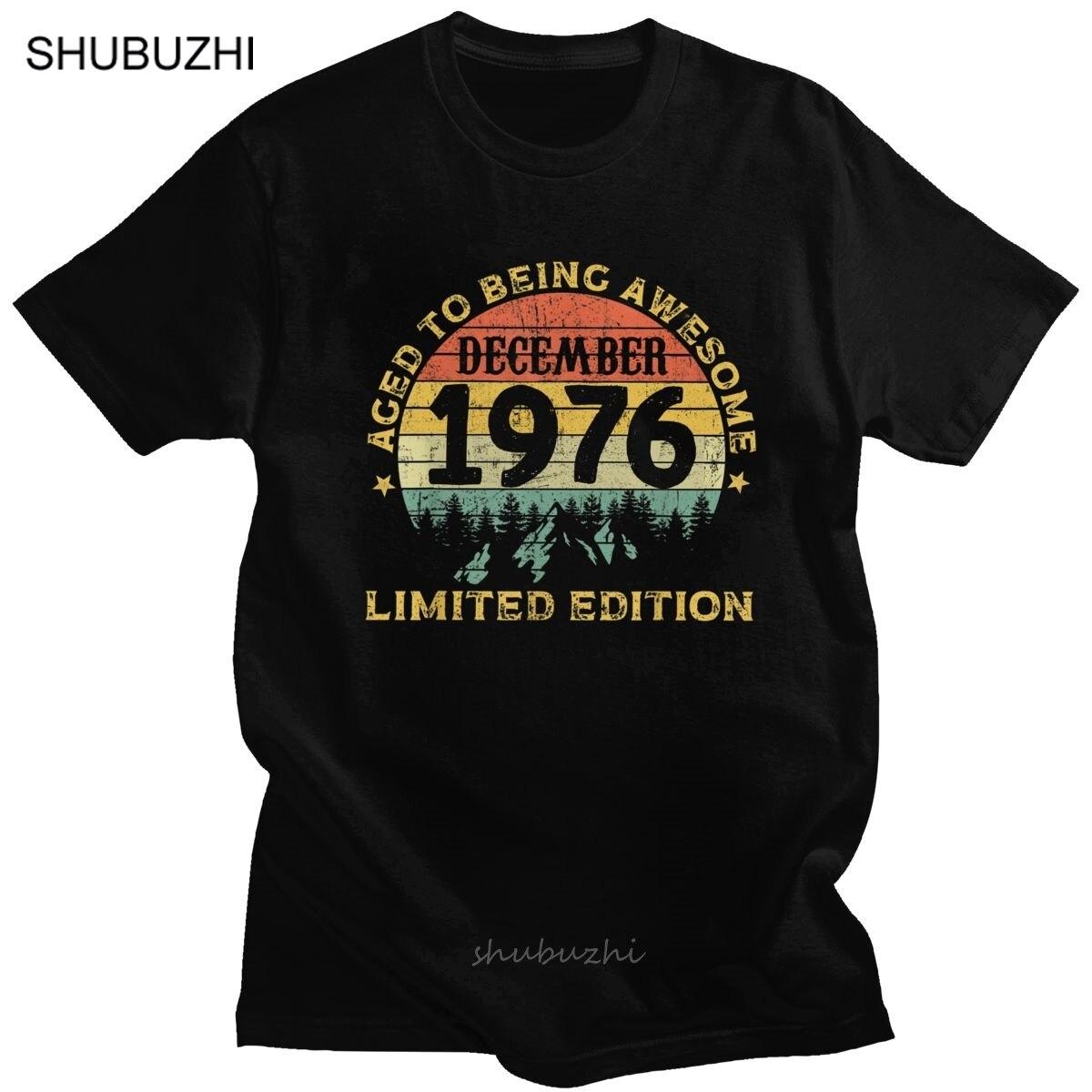 Retro legends impressionante nascido em dezembro 1976 camiseta para homem de manga curta camisa casual 44th presente de aniversário camiseta de algodão topos