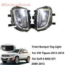 2 pièces avant pare-chocs antibrouillard conduite lumière antibrouillard pour VW Tiguan 2013- 2016 pour Golf 6 MK6 GTI 2009 2010 2011 2012 2013