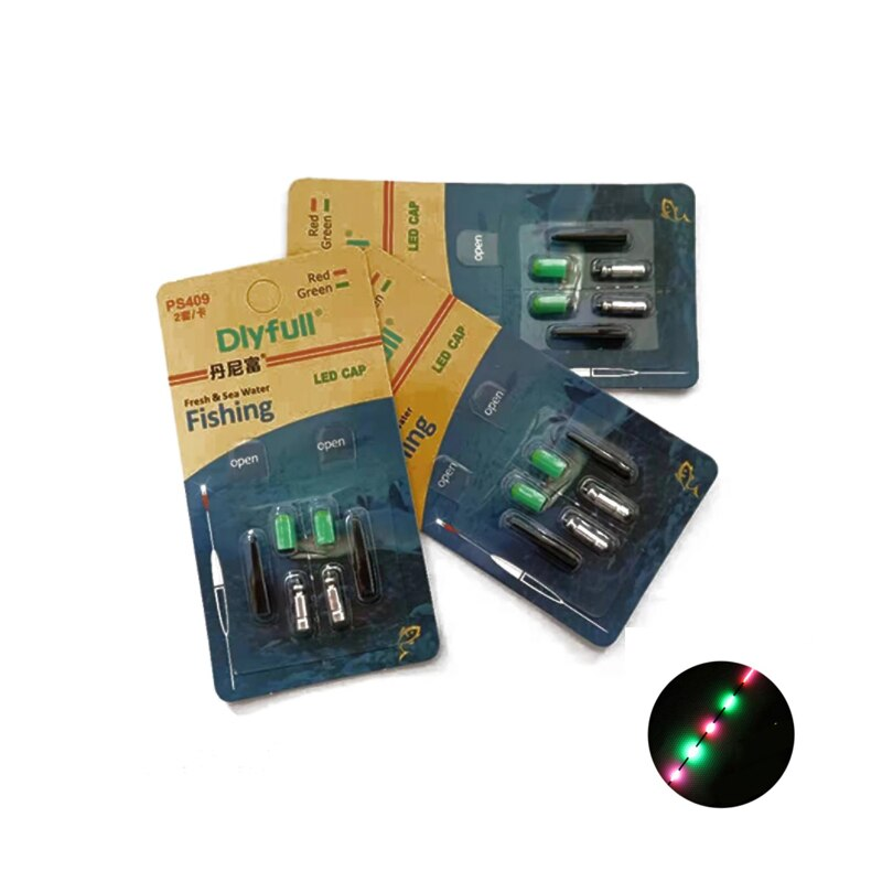 50Pcs Green/Red Electronic Fishing Floats Light LED Electronic Light +CR311 Battery Night Fishing Tackle Accessories A006 enlarge