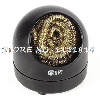 Soldering Tip Metal Base Holder Cleaning Wire Sponge Ball + Holder