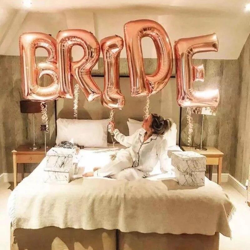 16 дюймов, розовое золото, воздушные шары для невесты, золотые свадебные воздушные шары, аксессуары для девичника, девичника, девичника