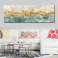 modern abstract oil painting gold money surf posters and prints wall art canvas painting picture for living room decorno frame