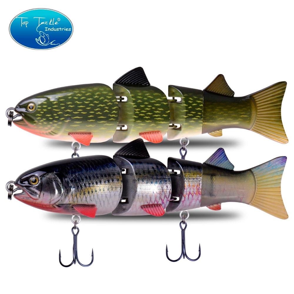 215mm 155g CFLURE, hundimiento lento, alta calidad, 4 segmentos, cebo articulado, señuelo de pesca Swimbait, 7 colores
