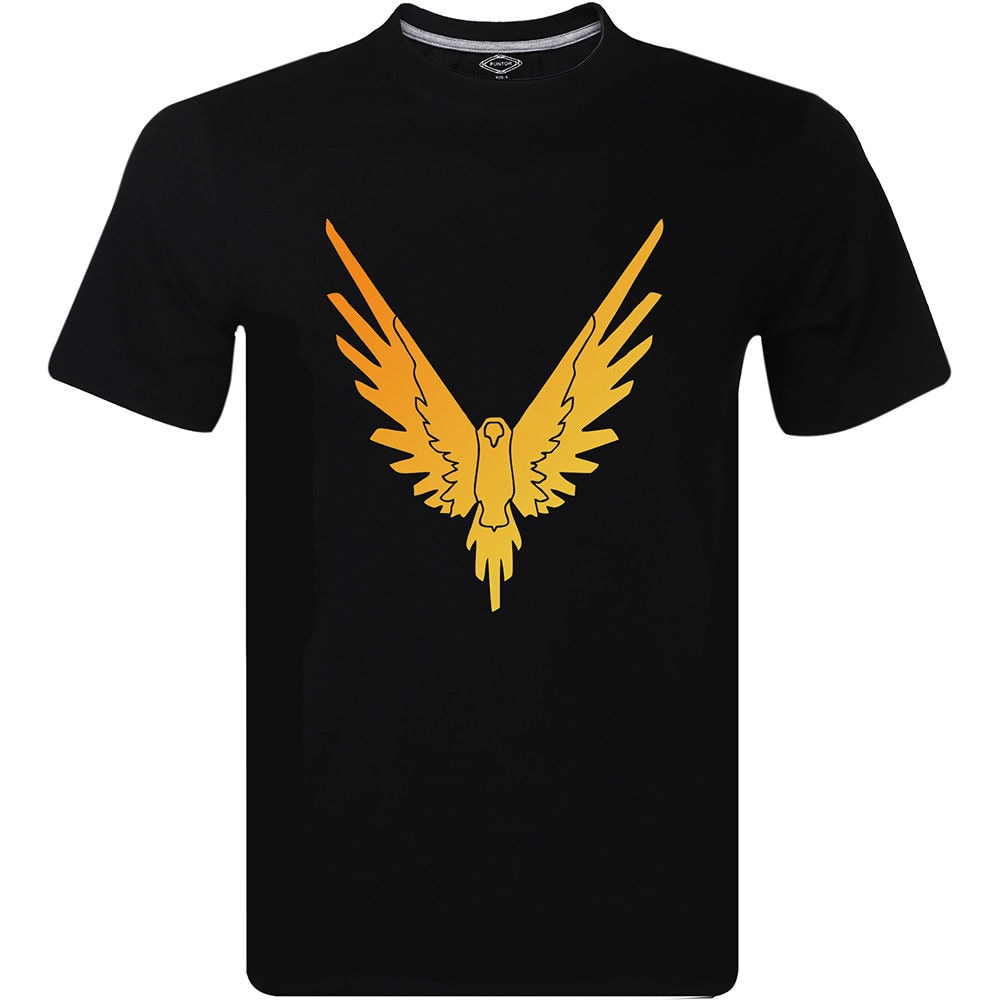 Cool Logan Paul Maverick Birds Gold Logo camiseta negra para hombre tamaño superior S -3XL 100% algodón letra impresa camisetas Top Tee