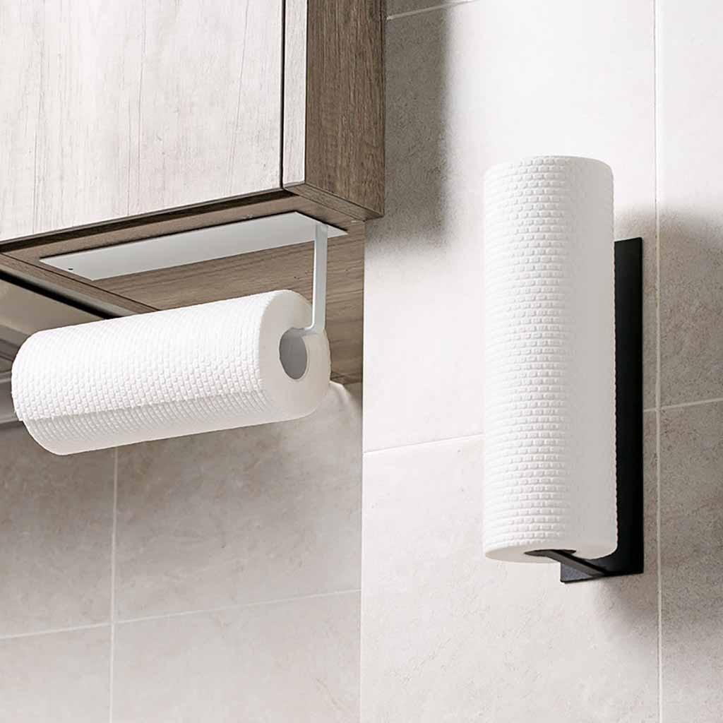 Accesorios estante debajo del Gabinete rollo de papel soporte de toalla gancho para pañuelos para almacenamiento de cocina organizador de baño GK107