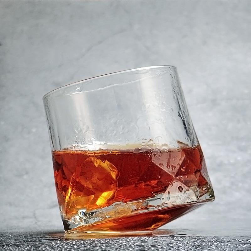 المحيط العلامة التجارية الإبداعية ويسكي بهلوان الزجاج الماس المنشورية قطع سميكة الثقيلة XO ويسكي روك كأس أكواب البيرة الغزل