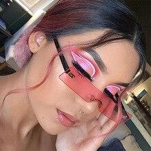 New Small Rectangle Sunglasses Women Men One Piece Square Sun Glasses Brand Design Outdoor Driver Sh