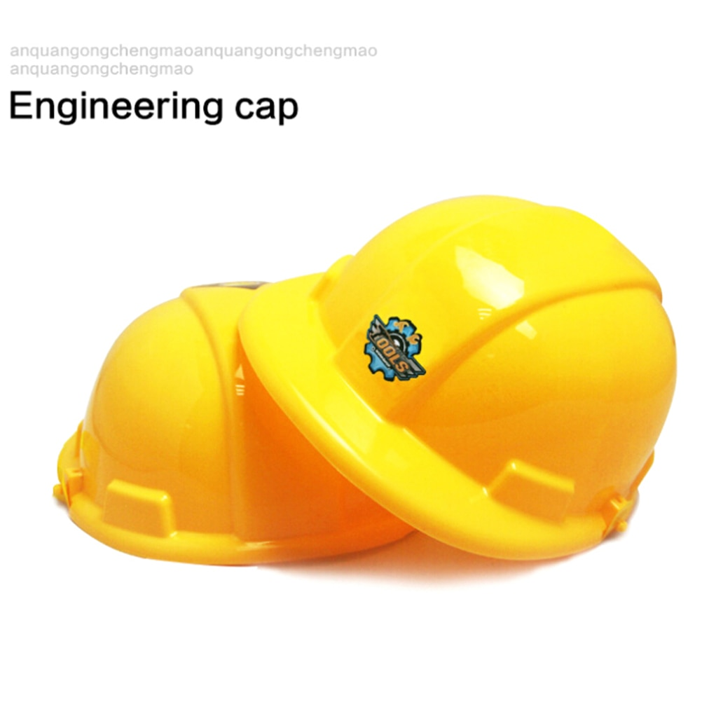 1pc Yellow Simulation Safety Helmet Pretend Role Play Hat Toy Construction Funny Gadgets Creative Kids Children Gift New