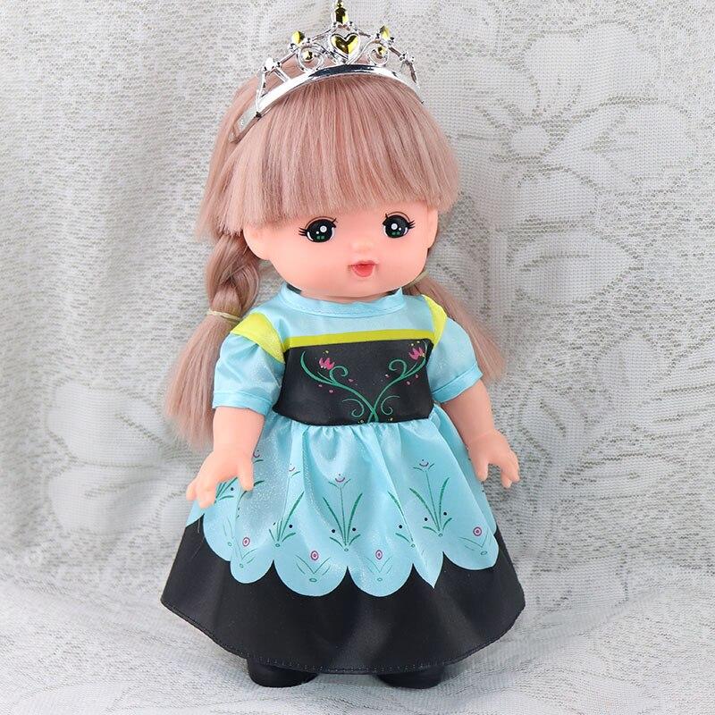 Vestido de princesa Merlot Mellchan de 25cm, vestido de muñeca, falda Anna, vestido de princesa, juguete para jugar a las casitas, accesorios de muñeca