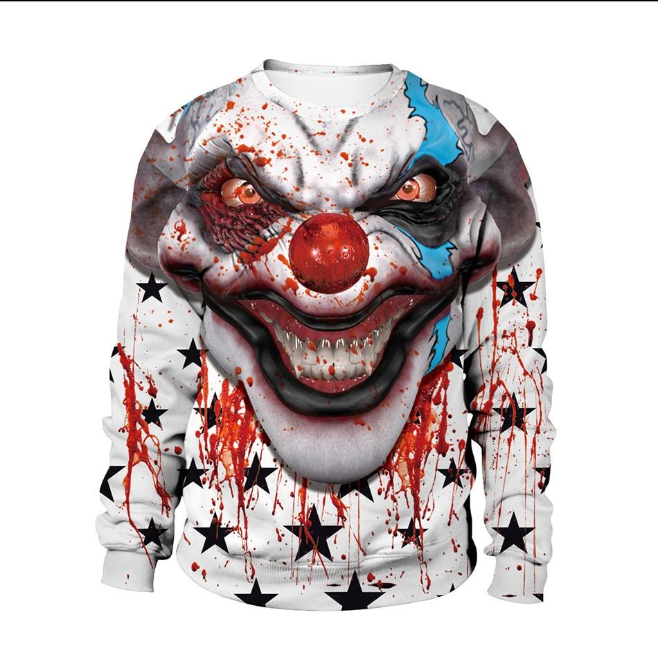 2019 Halloween teen hoodie nuevos diseños 400gsm sudaderas a granel SEÑORAS Y hombres slim fit cuello redondo manga larga 3d impresión sudadera con capucha