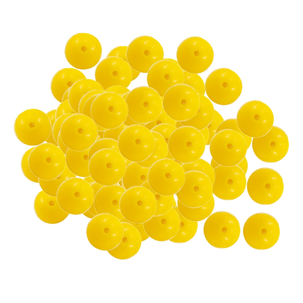Bolas flotantes de cebos con sabor a maíz dulce suave de pesca de 100 piezas-amarillo