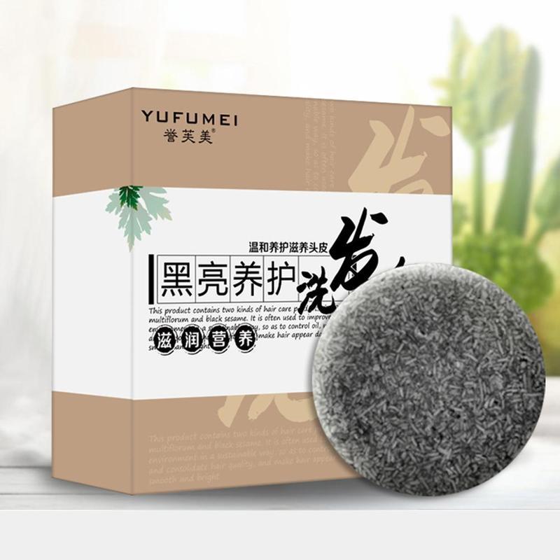 Herbal Polygonum Essence Hair Darkening Shampoo Bar Mild Natural Cleansing Hair Soap Shampoo Soap Gray Hair Formula Reverse S2X7 недорого