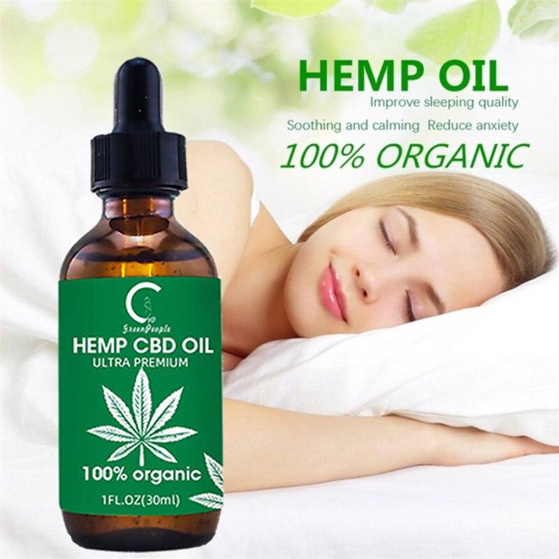100% CBD Hemp essential oil Neck Pain Relief Hemp seed extract Drops Anxiety Anti Inflammatory Better Sleep Massage Oil