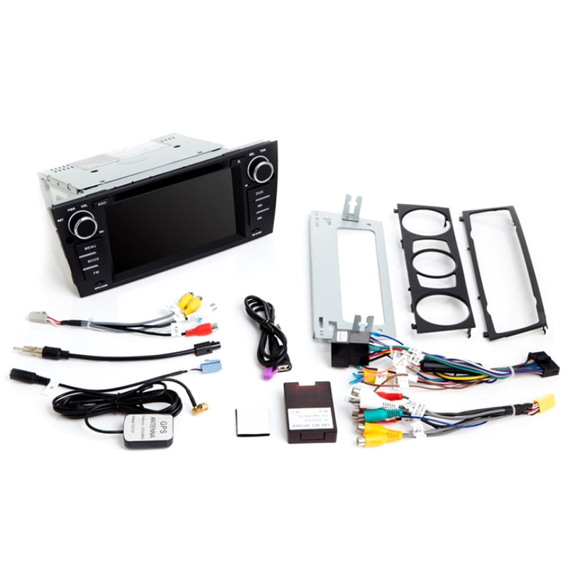 2G RAM 1 Din Android 9,0 reproductor de DVD del coche para BM W E90/E91/E92/E93 Radio de navegación Multimedia 3 Serie GPSAudio 2 + 32GB IPS