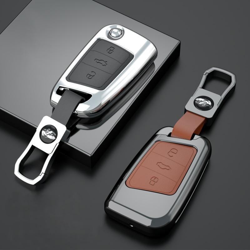 aliexpress.com - Zinc Alloy Car Remote Key Case Cover Holder Shell Fob For Volkswagen VW Magotan Passat B8 Golf For Skoda Superb A7 Accessories