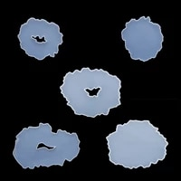 1pcs resin casting molds silicone geometric plate dish display resin mold coaster round square jewelry placement diy epoxy resin