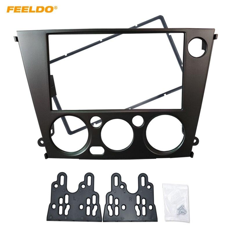 FEELDO auto Radio estéreo 2DIN CD DVD Fascia marco adaptador para Subaru Legacy/interior (LHD) tablero Marco de Panel Kits # HQ2111