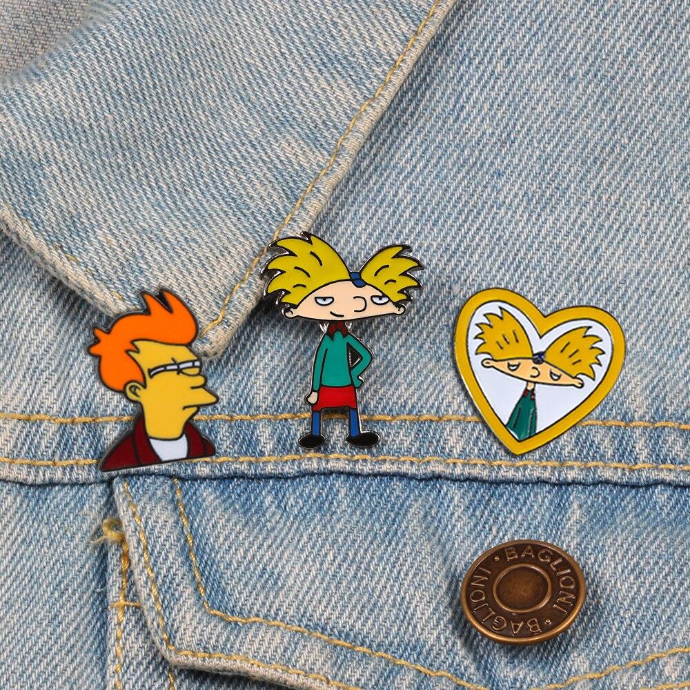 Desenhos animados arnold pins diversão anime menino esmalte coleção moda tv mostrar broche para amigos mochila lapela distintivo jóias presente