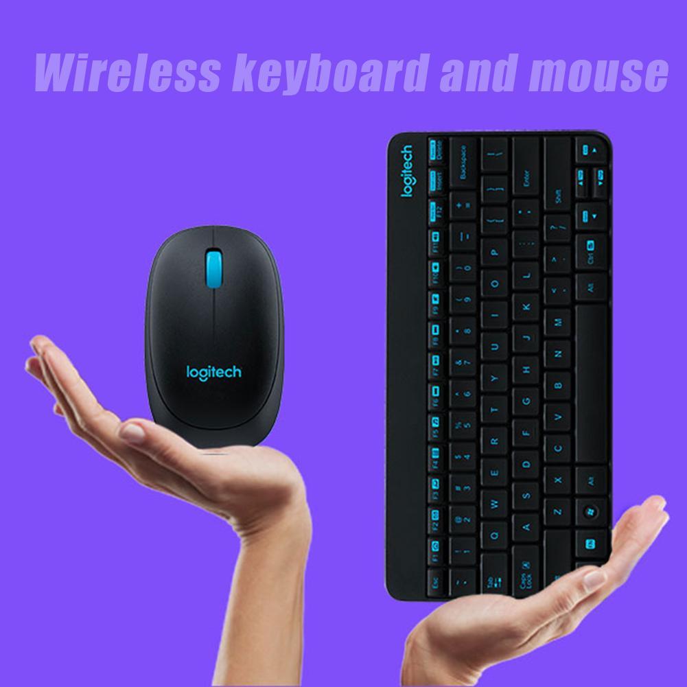 Logitech MK245 USB Nano Беспроводная мини клавиатура 1000DPI эргономичная мышь комбо набор для домашнего офиса школы ноутбук