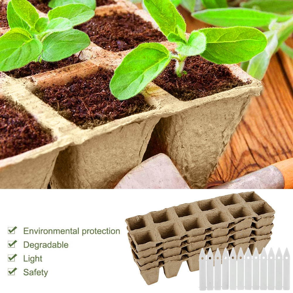 5pcs plant grow pot Paper Nursery Cup Starters garden flower pots Herb vegs Kit Biodegradable Home gardening tools