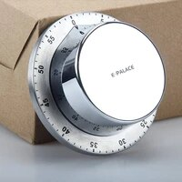 stainless steel kitchen timer with magnetic base manual mechanical cooking timer countdown reminder kitchen gadgets