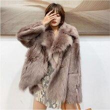 Manteau de fourrure naturelle femme hiver réel mouton fourrure veste vêtements 2020 coréen chaud Double face fourrure haut femmes Vintage laine manteau M1907
