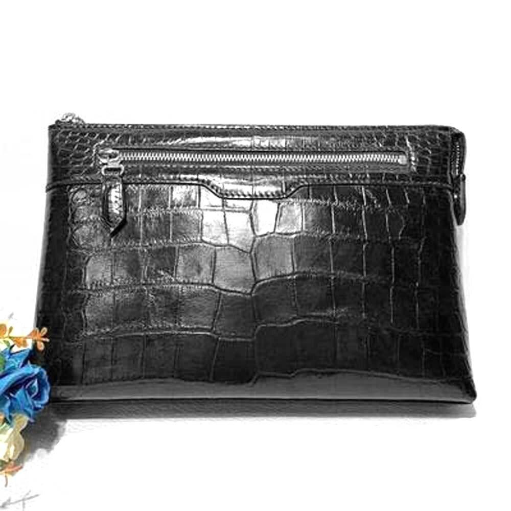hongsen new crocodile  handbags  true  crocodile  fashion  Hand bag  large capacity men clutch bag crocodile leather men bag