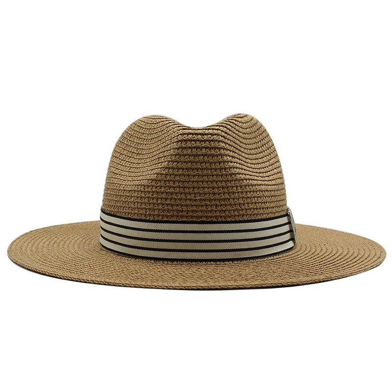 Panama Hat Summer Sun Hats for Women Man Beach Straw Hat for Men UV Protection Jazz Fedora chapeau femme