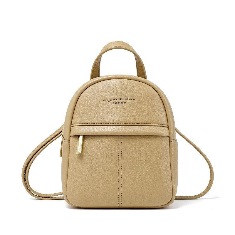 Women Backpack Fashion Small Backpack Ladies Shoulder Crossbody Bag Female Mini Bolsa Big Capacity 3 Layer Soft Leather Black PU