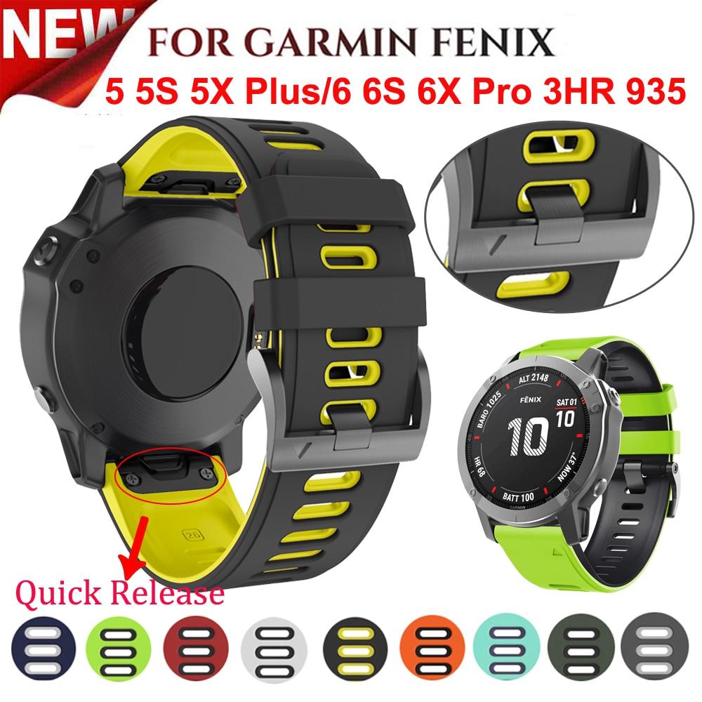 AliExpress - 26 22MM Silicone Quick Release Watchband Strap for Garmin Fenix 6X 6 6S Pro smartwatch Easyfit Wrist Band Strap Fenix 5X 5 5S