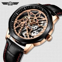 haiqin gold watch men automatic mechanical mens watches luxury men watch waterproof wristwatch for men tourbillon reloj hombres